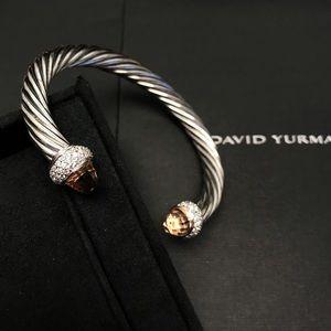 David Yurman Candy Diamon Morganite Cable 7mm Cuff